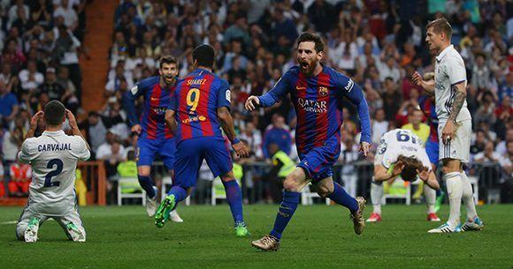 Messi celebra su tanto decisivo. Foto: Reuters.