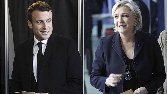 Enmanuel Macron y Marine Le Pen se enfrentarán en la segunda vuelta de la presidencia francesa. Foto: Reuters.