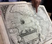 Ubicación de Cuba dentro del primer Atlas del mundo. Foto: María del Carmen Ramón/ Cubadebate.