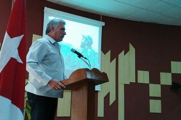 Miguel Díaz Canel en la clausura de la Jornada Red Cuba 2017. Foto: Radio Reloj