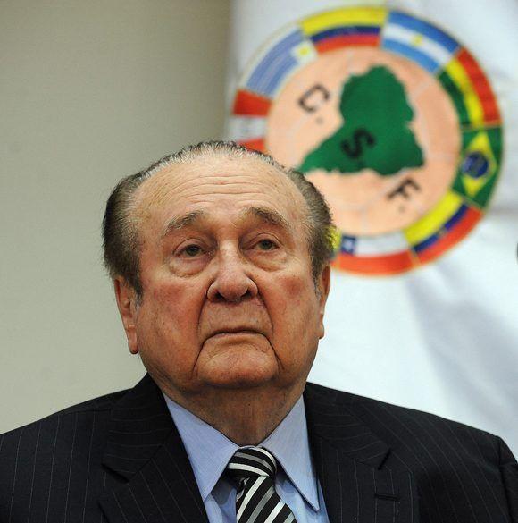 Nicolás Leoz, expresidente de Conmebol, acusado de corrupción. Foto: Norberto Duarte/ AFP.