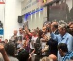 La Ctera convocó a un abrazo simbólico al Congreso a las 17H00. | Foto: @PACOURONDO