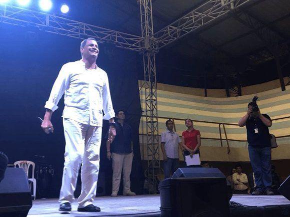 El primer mandatario ecuatoriano se pronunció desde el cantón Mocache, provincia de Los Ríos. | Foto: @ElCiudadano_ec