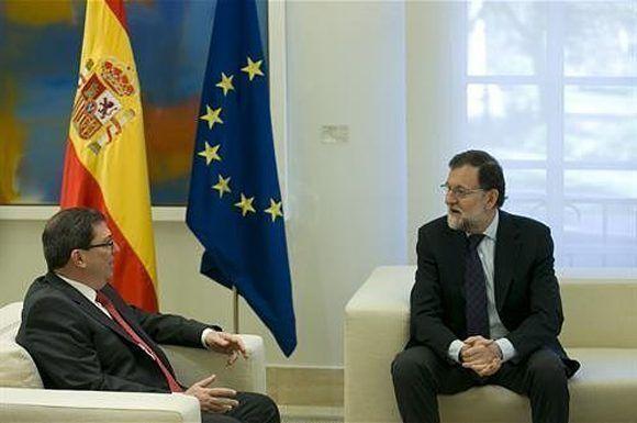El presidente del Gobierno, Mariano Rajoy, se ha reunido en La Moncloa con el ministro de Relaciones Exteriores de la República de Cuba, Bruno E. Rodríguez. Foto: Ministerio de Presidencia.