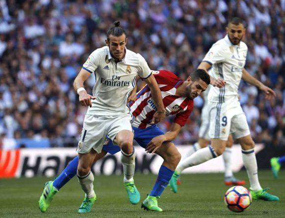 Real Madrid y Atlético de Madrid empataron 1-1 en el llamado derbi madrileño. Foto: EFE.