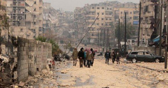 Siria, un país destruido por una guerra que dura ya más de seis años. Foto: Archivo.