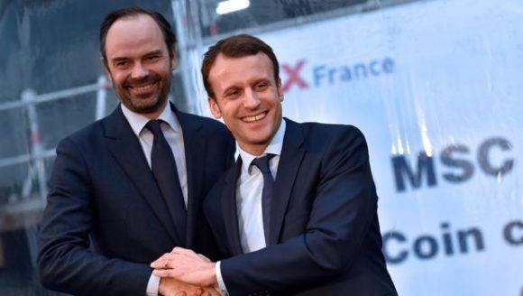 Édouard Philippe y Macron. Foto tomada de ABC.