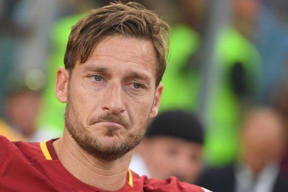 Totti en su último partido. Foto: EFE.