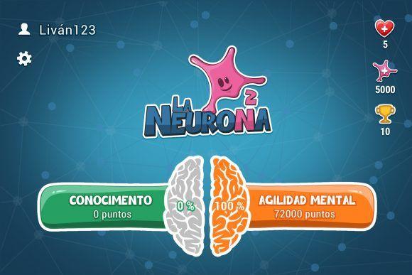 Captura de pantalla de inicio de la Neurona.