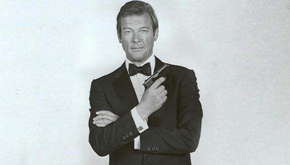 Sir Roger Moore interpretando a James Bond. Foto: www.globallookpress.com
