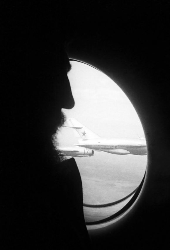 """""""Primer viaje de Fidel a la URSS"""" (1963). Foto: Alberto Korda."""