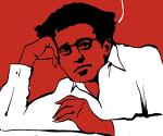 Antonio Gramsci, caricatura de Mauro Biono.
