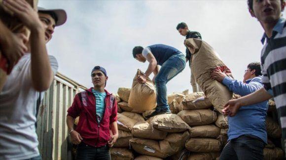 Ayuda humanitaria de la ONU en Siria. Foto tomada de HispanTV (Archivo).