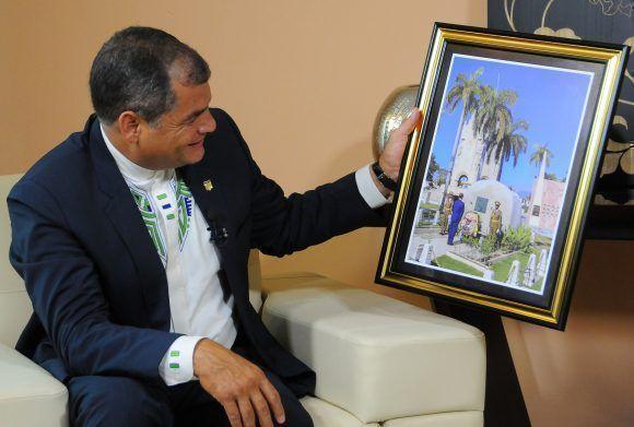 Entrevista al presidente de Ecuador, Rafael Correa Delgado a Mundo Latino, durante su visita a Cuba para recibir la Orden José Martí y el Título de Honoris Causa de la Universidad de La Habana, mayo 2017. Foto: Juvenal Balán / Mundo Latino / Cubadebate