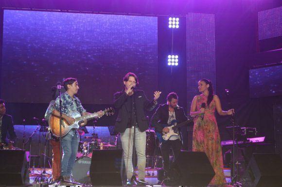 Premios Cubadisco 2017. Luna Manzanares, Mauricio Figueiral y . Foto: Marianela Dufflar / Cubadebate