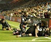 Así celebró el Madrid el segundo gol de Cristiano. Foto tomada de Marca.