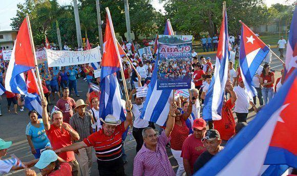 Desfile por el Primero de Mayo, Día Internacional de los Trabajadores, en el municipio especial Isla de la Juventud, Cuba, el 1 de mayo de 2017.   ACN FOTO/Roberto DÍAZ MARTORELL/ogm