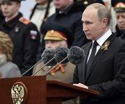 Vladimir Putin durante su discurso en Moscú por el Día de la Victoria. Foto: Reuters.