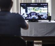 Emulador de videojuego de carrera. Foto: L Eduardo Domínguez/ Cubadebate.