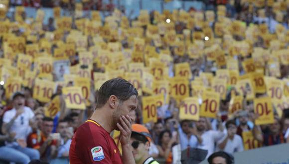Francesco Totti. Foto tomada de El País.