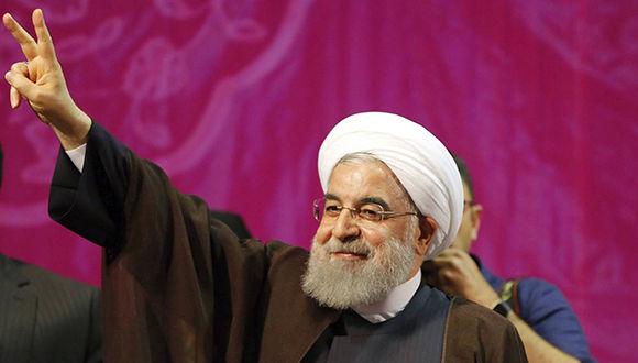 Hassan Rouhani fue reelegido en Irán con el 57,1 por ciento de los votos. Foto: EFE.