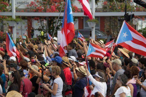 Plaza de la Convalecensia  Rio Piedras.   Fiesta de Pueblo para Oscar Lopez.Foto por JOSE RODRIGUEZ ©