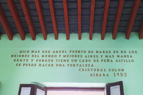 Gibara palabras de Colón