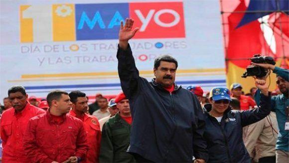 Maduro en el acro del Primero de Mayo. Foto: Prensa Presidencial.