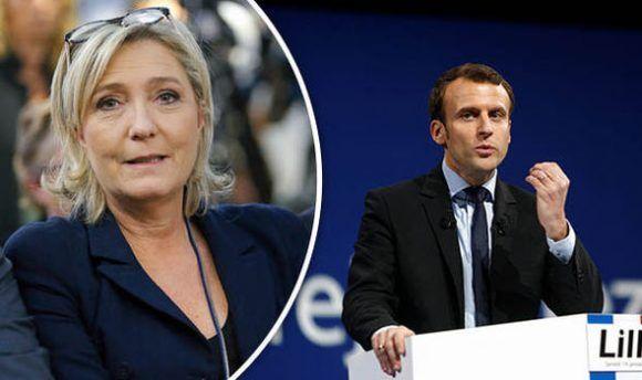 Le Pen y Macron. Foto tomada de Daily Express.