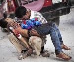Niño muerto en la guerra de Iraq. Foto:  Archivo.