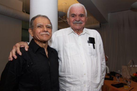 Dos héroes puertorriqueños: Oscar López Rivera y Rafael Cancel Miranda, en la mañana del 18 de mayo de 2017. Foto: Claridad
