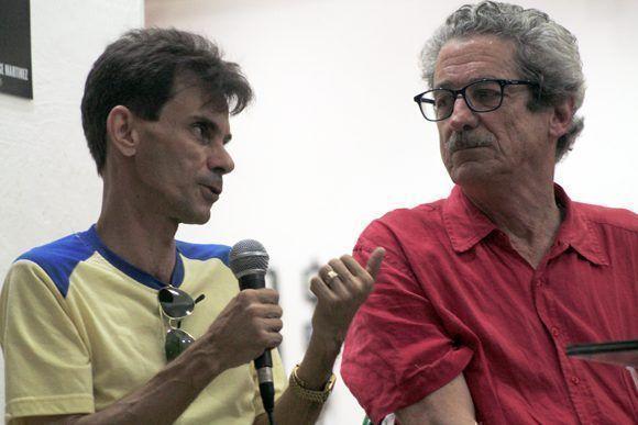 """Abel Rodríguez y Fernando Pérez comparten guión de """"Últimos días en La Habana"""". Foto: Daylén Vega / Cubadebate"""
