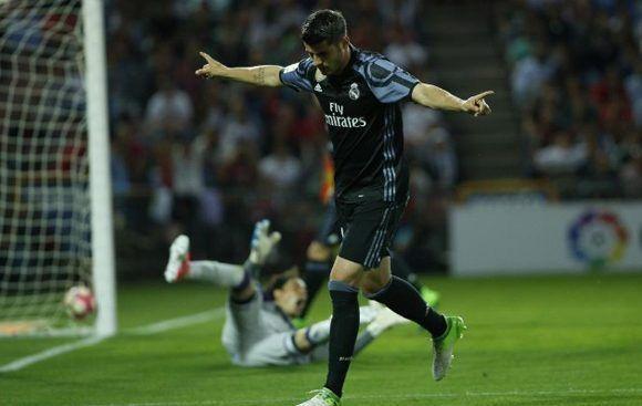 Morata celebra una de sus anotaciones. Foto tomada de Marca.