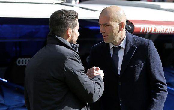 Simeone y Zidane. Foto tomada de Marca.