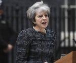 Theresa May, durante una rueda de prensa en Downing Street. Foto: EFE.