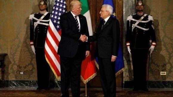 Trump y Mattarella. Foto: Reuters.