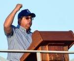 Ulises Guilarte de Nacimiento, secretario general de la Central de Trabajadores de Cuba (CTC), pronunció las palabras de apertura del desfile por el Primero de Mayo, Día Internacional de los Trabajadores, en la Plaza de la Revolución José Martí, en La Habana Cuba, el 1 de mayo de 2017.   ACN FOTO/Marcelino VÁZQUEZ HERNÁNDEZ/sdl