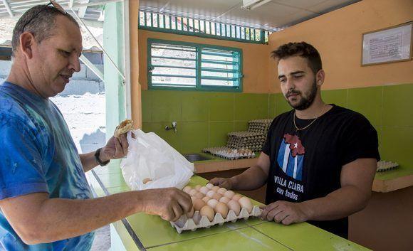 Huevos Criollos en mercadito de la Avicultura, Santa Clara. Foto: Ismael Francisco/Cubadebate.