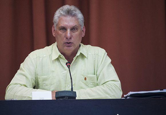 Vicepresidente primero Miguel Díaz-Canel. Foto: Irene Pérez/ Cubadebate.