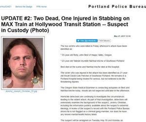 La Policía de Portland informó en su página web que Christian está bajo la custodia policial.