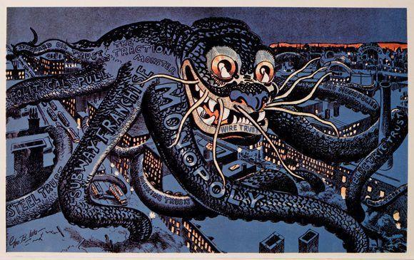 """The Menace of the Hour"", una caricatura antimonopolio de 1899. Foto: Credit Universal History Archive / Uig, vía Getty Images."