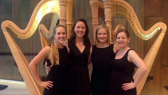 El cuarteto de arpas se ha presentado en las mayores salas de concierto de Estados Unidos. Foto: Tomada de Prensa Latina.