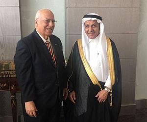El Ministro de Economía y Planificación de Cuba, Ricardo Cabrisas Ruíz, y el vicepresidente y Director Ejecutivo del Fondo Saudita para el Desarrollo, Sr. Yousef Ibrahim Albassam. Foto: CubaMinrex.