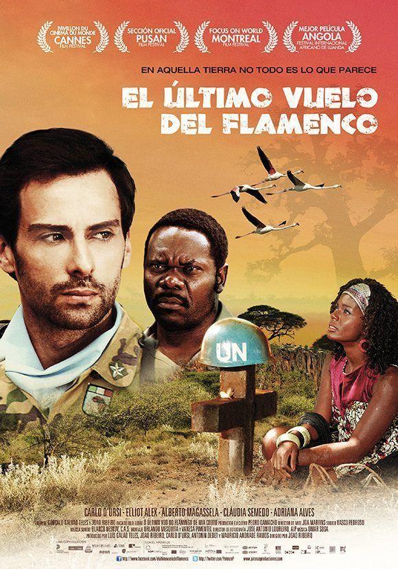 """Cartel de la película """"El último vuelo del flamenco"""", que inaugura en La Habana el Primer Festival de Cine en Lengua Portuguesa."""