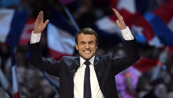 Emmanuel Macron, de 39 años, fue elegido presidente de Francia. Foto: AFP.