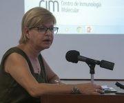 La Doctora Angelina Díaz García en la Audiencia Parlamentaria dedicada al financiamiento de la ciencia en Cuba.Foto: Irene Pérez/ Cubadebate.