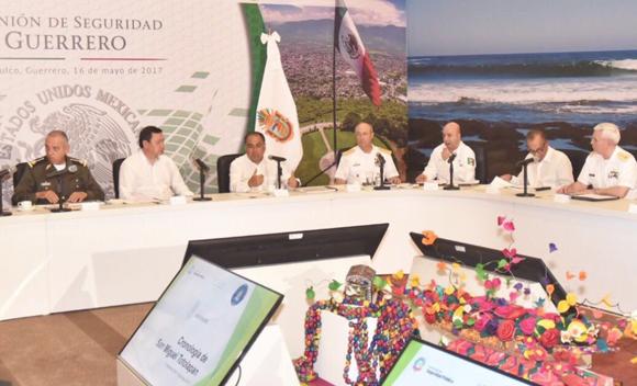 Los integrantes del Gabinete de Seguridad Federal se reunieron en el puerto de Acapulco. Foto: @Gob_Guerrero