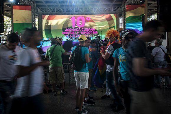 El Pabellón Cuba acogió diversas actividades contra la homofobia y la transfobia. Foto: Irene Pérez/ Cubadebate.