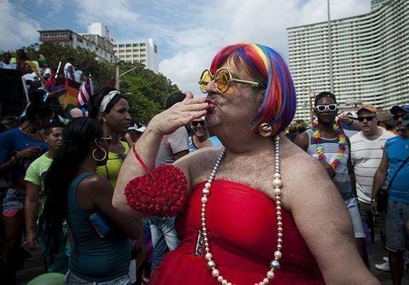 Conga por la diversidad en La Habana. Foto: Irene Pérez/ Cubadebate.