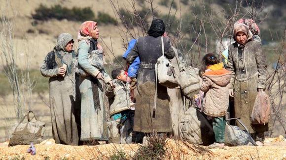 Casi la mitad de la población siria de 23 millones, antes de la guerra, ha sido desplazada por el conflicto. Foto: Reuters.